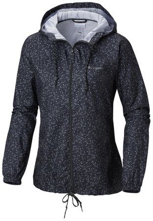 Columbia ženska bunda Flash Forward Windbreaker Black Print, XS, črna