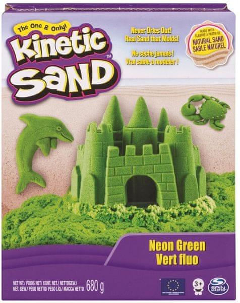 Kinetic Sand Neonové barvy zelená 680 g