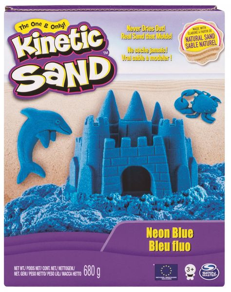 Kinetic Sand Neonové barvy modrá 680 g
