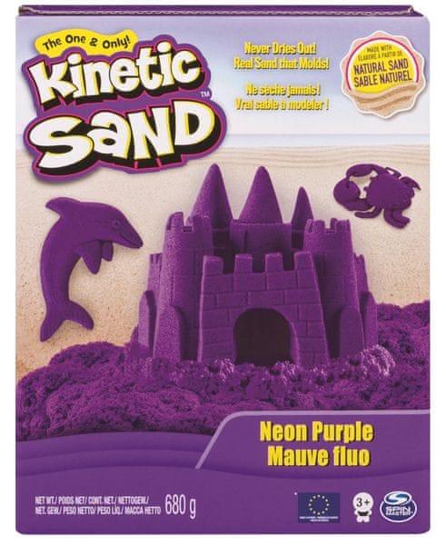Kinetic Sand Neonové barvy fialová 680 g