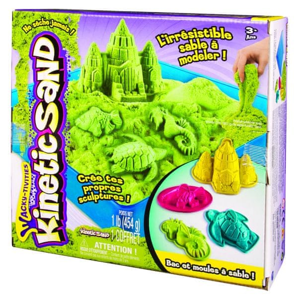 Kinetic Sand Box Sada 454 g zelená