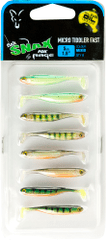 FOX RAGE Gumová Nástraha Micro Tiddler Fast Mixed Colour Lure Packs