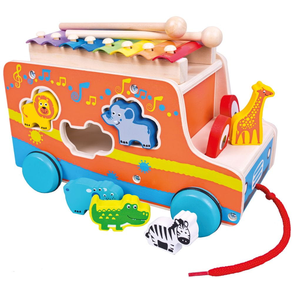 Bino Auto vkládačka s xylofonem