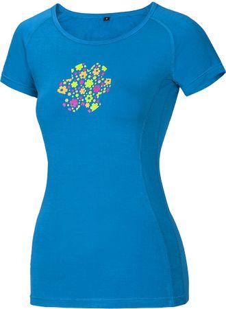 Ocun ženska majica kratkih rukava Bamboo T Meadow Vivid blue, XS, plava
