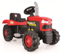 2 - DOLU Velký šlapací traktor, červený