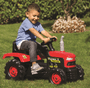 3 - DOLU Velký šlapací traktor, červený