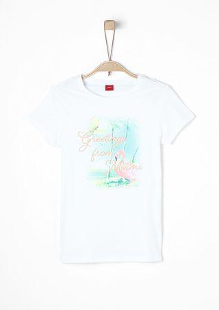 s.Oliver T-shirt dziewczęcy L biały