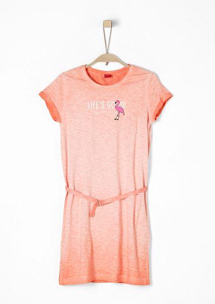s.Oliver dívčí šaty 146 oranžová