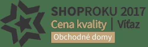 SHOPROKU 2017 - CENA KVALITY