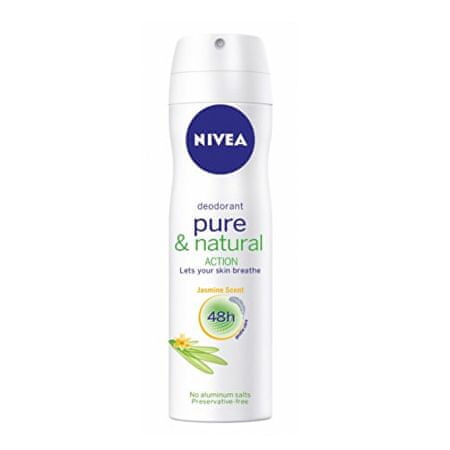Nivea Deodorant ve spreji Pure & Natural Jasmín (Deodorant) 150 ml
