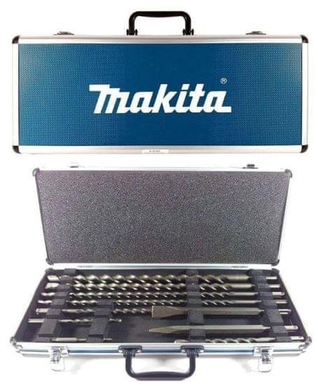 Makita 10-delni set svedrov in dlet SDS-Plus v kovčku (D-42385)