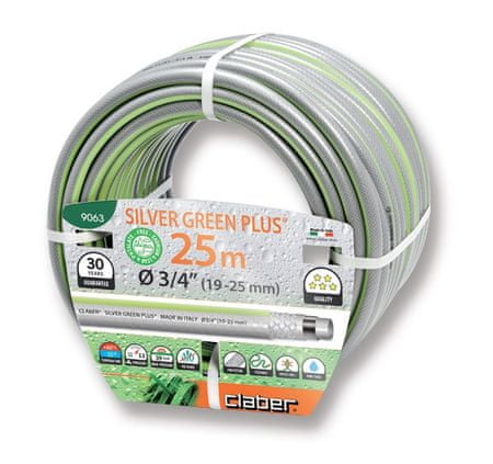 Claber cev za vodo Silver Green Plus (9063), 19 mm, 25 m