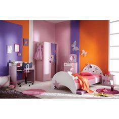 Otroška postelja Fairy 90x200 cm, roza
