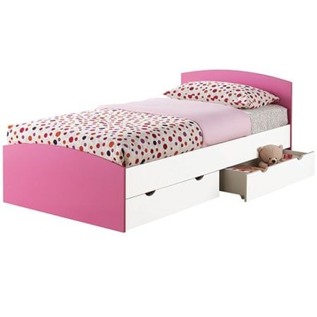 Postelja Strumfeta 120x200, roza