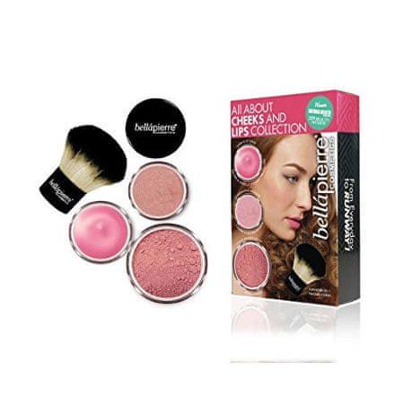 Bellapierre Kosmetická sada na tvář a rty (All About Cheeks And Lips Kit) (Odstín Pink Collection)