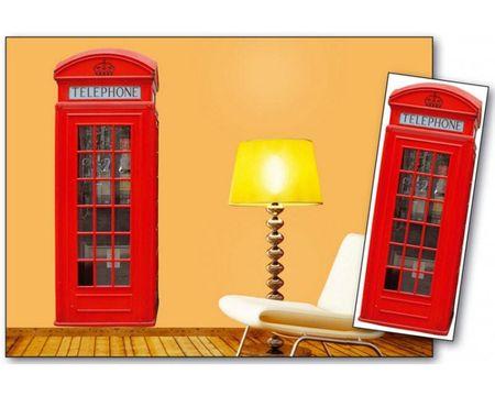 Dimex Dekoračné nálepky na stenu Telefónna búdka - 65 x 165 cm