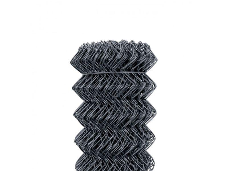Čtyřhranné pletivo Zn+PVC 50 (kompakt, bez ND) - výška 125 cm, antracit, 25 m