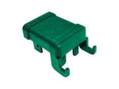 Čepička PVC pro sloupek PILODEL 60×40 mm s háčky na čele, zelená