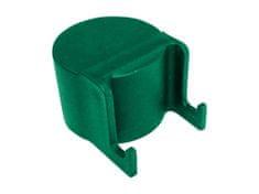 Čepička PVC pro sloupek průměr 48 mm s háčky na čele, zelená