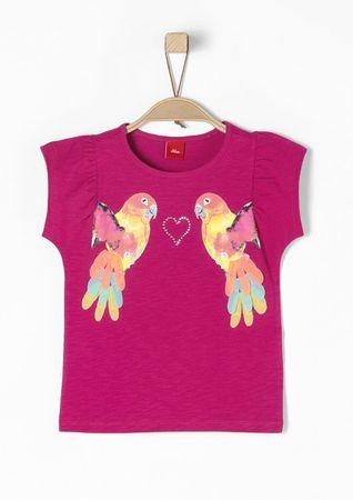 s.Oliver T-shirt dziewczęcy 92/98 różowy