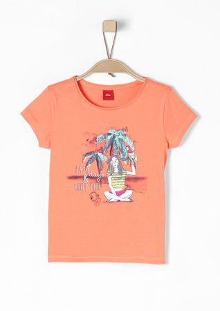 s.Oliver dívčí tričko 104/110 oranžová