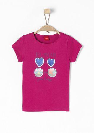 s.Oliver dívčí tričko 128/134 růžová