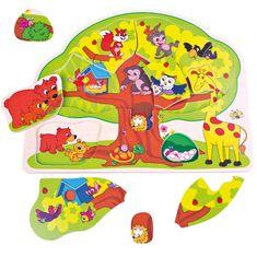 BINO Puzzle veselé zvieratká
