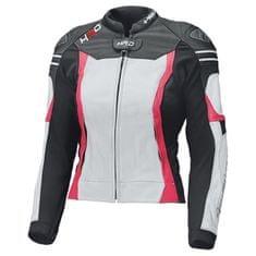 Held dámska športová moto bunda  STREET 3.0 LADY čierna/biela/ružová, koža
