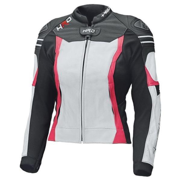 Held dámská bunda STREET 3.0 černá/bílá/růžová vel.38, kůže