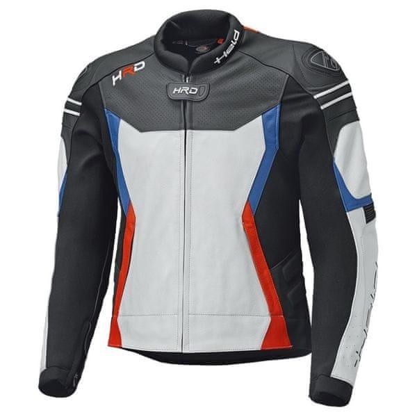 Held pánská bunda STREET 3.0 černá/bílá/červená/modrá vel.50, kůže