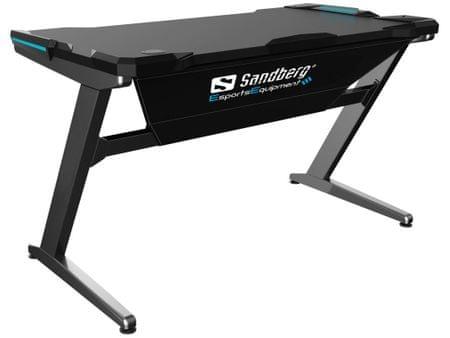 Sandberg stół gamingowy Fighter Gaming Desk - szary