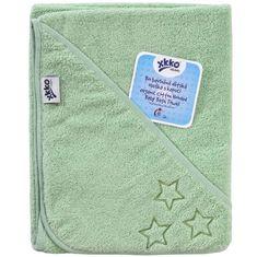 XKKO Ręcznik frotte z kapturem z biobawełny Organic 90x90, Mint