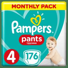 Pampers Plenkové kalhotky Pants 4 Měsíční balení 9-15kg, 176 ks