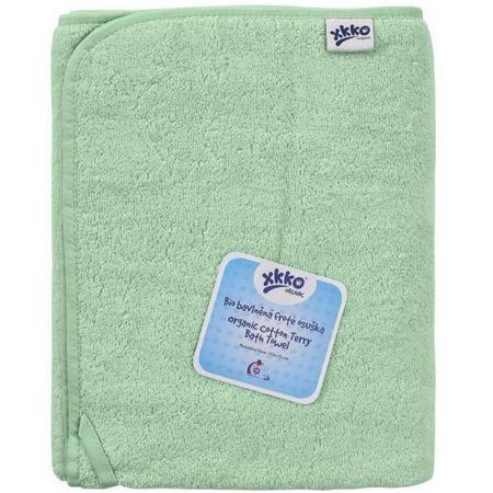 XKKO frotir brisača iz BIO bombaža Organic, 150 x 75, Mint, zeleno modra