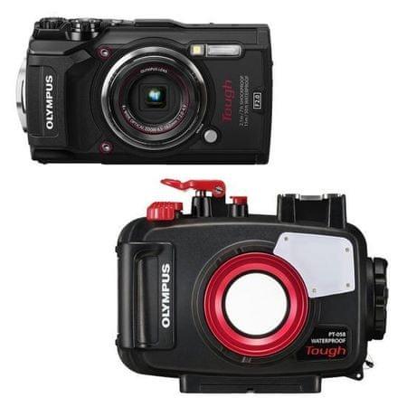 Olympus digitalni fotoaparat Tough TG-5 + podvodno ohišje