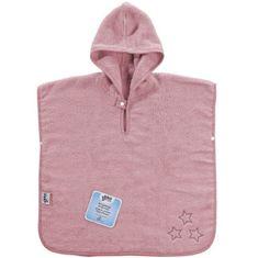 XKKO Froté pončo z BIO bavlny Organic, Baby Pink