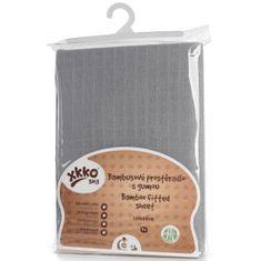 XKKO bambusova prevleka z elastiko, 120 x 60 cm, Silver, siva