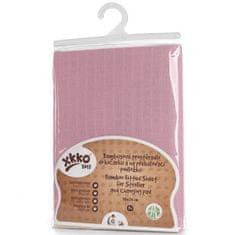 XKKO Bambusz lepedő gumival 50x70, Baby Pink