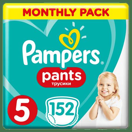 Pampers hlačne plenice Pants 5 mesečno pakiranje, 11 - 18 kg, 152 kosov