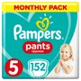 1 - Pampers hlačne plenice Pants 5 mesečno pakiranje, 11 - 18 kg, 152 kosov