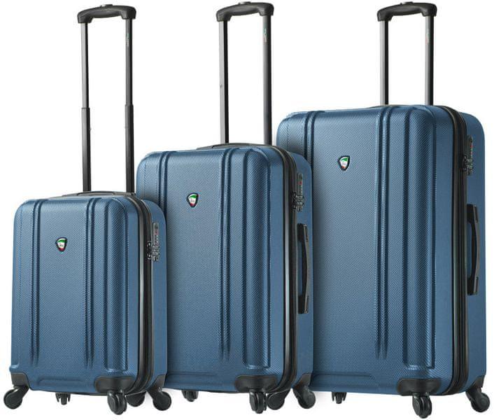 Mia Toro M1210/3 Sada cestovních kufrů modrá