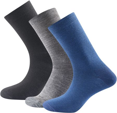 Devold nogavice Daily Light Sock Indigo mix, 3 kos, 36-40