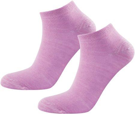 Devold nogavice Daily Shorty Woman Sock Peony, 2 kos, roza, 36-40