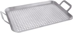 Rozsdamentes acél perforált grillemez 43x25 cm