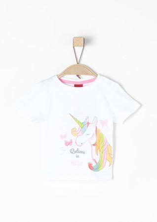 s.Oliver T-shirt dziewczęcy 62, biały
