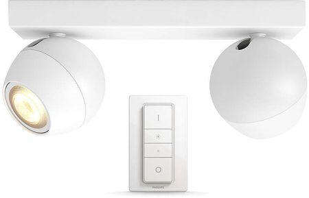 Philips dvojna svetilka HUE Buckram 50472/31/P7 z daljinskim upravljalnikom, bela