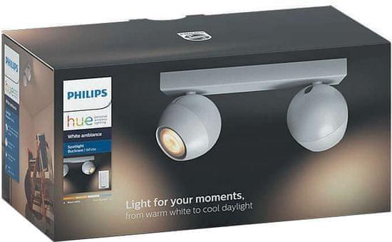 Philips dvojna svetilka HUE Buckram 50472 z daljinskim upravljalnikom