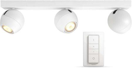 Philips trojna svetilka HUE Buckram 50473/31/P7 z daljinskim upravljalnikom, bela