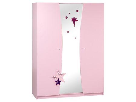 Garderobna omara Fairy 3D, roza