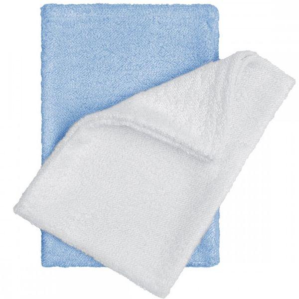 T-tomi Bambusové žínky rukavice, bílá/modrá